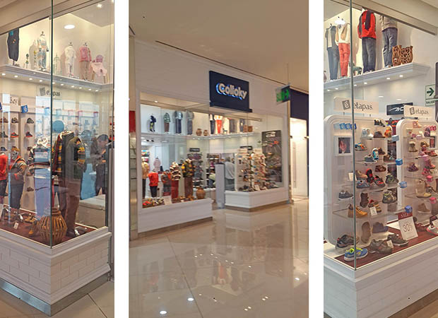Tienda Retail Colloky  Real Plaza salaverry Lindley Arquitectos
